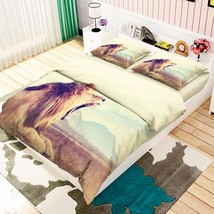 3D Yawning Lion Bed Pillowcases Quilt Duvet Cover Set Single Queen King ... - $64.32+