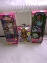 1997 Mattel NIP Easter Barbie , 1998 Easter Barbie, 2000 Easter Kelly Doll - $59.39