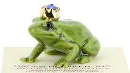 Birthstone Frog Prince September Simulated Sapphire Miniatures by Hagen-Renaker image 7