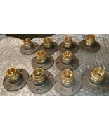 Iron Flange with Brass 22 mm Fittings Great For Wall / Floor Mounts X 10 - $38.71