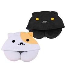U Shaped Cartoon Cute Hoodie Cat  Neck Pillow Office Airplane Travel Pillow - $268,30 MXN