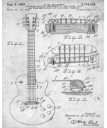Vintage 1955 Electric Guitar Patent Print 8 x 10 - $5.95