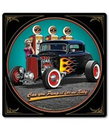 "1932 Deuce Coupe Pump It Up with Pin Up by Larry Grossman 12"" Square Met... - $30.00"