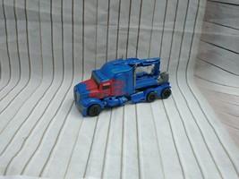 HASBRO TOMY Transformers Optimus Prime Truck Blue Red Flames SA V-2976A #A6144 - $16.56