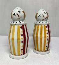 Vintage Limoges France Camille Tharaud Clown / Jester Salt and Pepper Sh... - $169.32
