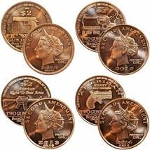 Second Amendment Liberty Gun Dollars 1 oz .999 Pure Copper BU Round(s) - $7.50+
