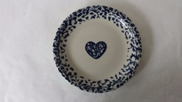Folk Craft Salad Plate Tienshan Hearts Sponge W... - $5.89