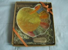 Hallmark Turkey Appetizer Plate Knife Cheese Thanksgiving Set Ceramic Ri... - $10.99