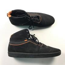 Vans Mens Black Hi Top Sneakers Skate Shoes Casual Comfort 12 - $17.60