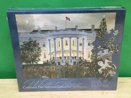 Vintage The White House Christmas Puzzle Tree Lighting 1941 500 pcs New Sealed image 1