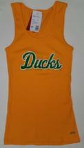 NWT University of Oregon Ducks Boy Beater Tank Top Junior's Medium Gold ... - $19.75