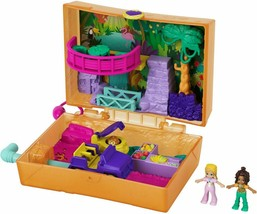 Polly Pocket Jungle Safari Compact with 2 Micro Dolls and Accessories NEW - $19.79
