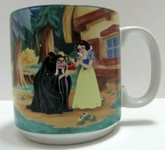 Vintage Disney Snow White Seven Dwarfs Coffee Mug Cup Forest Wicked Witch  - $25.73