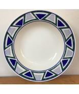 Single Vtg Mikasa Studio Nova Vista JJP01 Blue Green Triangle Salad Soup... - $11.99