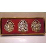 Gorham Silverplated Set of 3 Angel Ornaments - $5.03