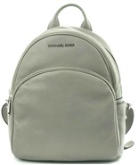 Michael Kors Backpack Bag Ash Grey Pebbled Leather Abbey Medium RRP £310 - $280.72