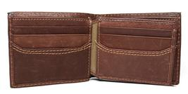 NEW LEVI'S MEN'S PREMIUM LEATHER CREDIT CARD ID WALLET BILLFOLD BROWN 31LV1344 image 6