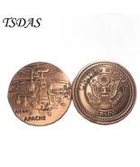 US Army Force AH-64 APACHE Metal Bronze Plated Souvenir Coin New Militar... - $5.50