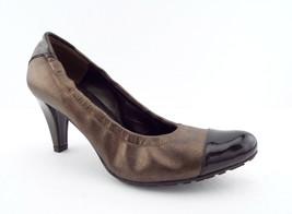 Stuart Weitzman Size 6 Bronze Metallic Scrunchy Heels Cap Toe Pumps Shoes - $68.00