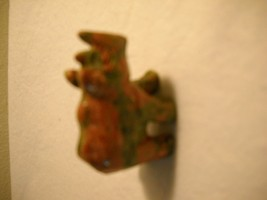 """Set of 2 MINI STONE ANIMALS 1 Green FROG and 1 RED AND GREEN Rhino 1"""" He... - $39.59"""