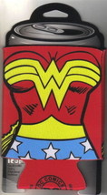 Wonder Woman Costume Chest Red Yellow Blue and White Beer Huggie Can Coo... - $6.43