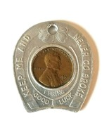 Tailors Clothiers Goldberg's Good Luck Penny Keychain~ Keep Me & Never G... - $9.65