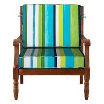 """26"""" x 26"""" Outdoor Deep Seat Cushion Set For Chair Sofa Blue Green White ... - $110.05"""