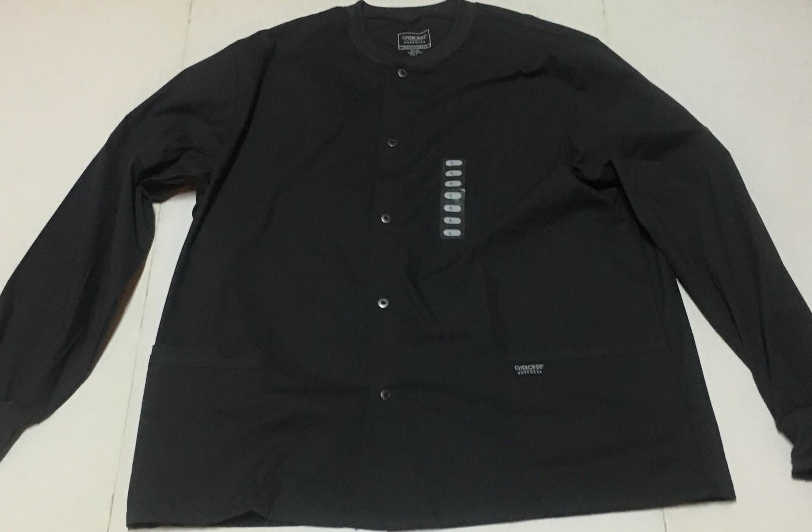 Cherokee Work Wear Dark Gray Men's Shirt XL 2 Way Stretch Easy Care