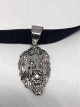 Vintage Silver Stainless Steel Lion Amulet Pendant Necklace - $34.65