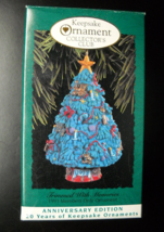 Hallmark Keepsake Christmas Ornament 1993 Trimmed With Memories Annivers... - $6.99