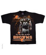 CLEVELAND BROWNS  New with tags TUNNEL T-Shirt BLACK shirt NFL TEAM APPAREL - $21.99