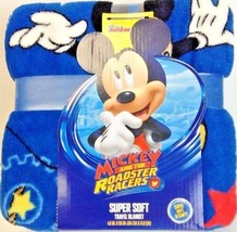 """Mickey & The Roadster Racers Super Soft Travel Blanket 45"""" X 55"""" New & Unused - $14.43"""