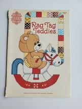Rag Tag Teddies Cross Stitch Pattern Book 56 Designs by Gloria & Pat Vin... - $3.95