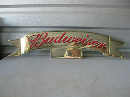 Budweiser King of Beers Vintage Plastic Display Sign Topper - $19.79