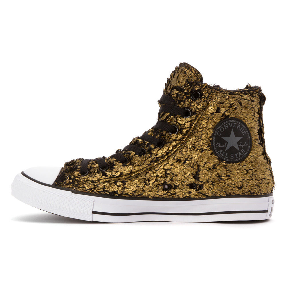 Women's Converse Chuck Taylor All Star Sparkle Fur High Top, 549636F Multi Sizes