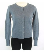 Banana Republic Petite S Blue Rhinestone Button Shimmer Cardigan Sweater - $9.99
