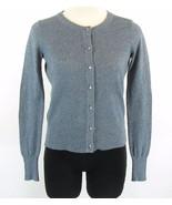 Banana Republic Petite S Blue Rhinestone Button Shimmer Cardigan Sweater - $9.99