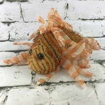 Ganz Lionfish Plush Orange Striped Beanbag Stuffed Animal Fish Soft Toy  - $9.89