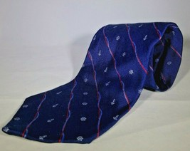 Brooks Brothers Makers Tie USA Silk Blue Background With Boat Symbols 10... - $14.80
