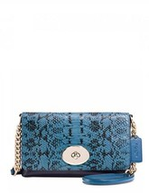 Coach Crosstown Crossbody In Clorblock Exotic Embossed Leather NWT - $169.00
