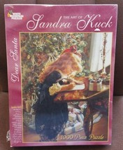 "The Art of Sandra Kuck ""Dear Santa"" 1000 pc White Mountain Puzzle Christ... - $49.49"