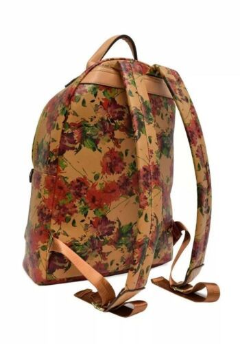 Adrienne Vittadini Womens The Saffiano Floral Collection Backpack