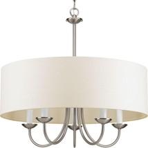 Hanging Chandelier Lamp Brushed Nickel Ceiling Pendant Light Fixture Liv... - $165.32