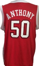 Greg Anthony #50 College Basketball Jersey Sewn Red Any Size image 4
