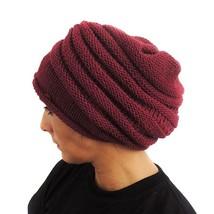 Celitas Designs Turbante Cap Slouch Hat Wool Blend Peru - Navy Blue - $9.85