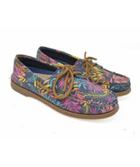 RARE colorway! Sperry Top Sider Women's Sz 6M Neon Floral Slip On Boat L... - $29.95