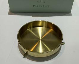 Partylite Heirloom Hurricane Riser P7087 Euc Brass With Box - $8.38