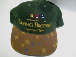 VTG Baseball Cap DIVINCI BROTHERS Gourmet Coffee Cafes & Houses trucker hat - $39.98