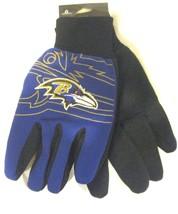 Baltimore Ravens Raised Team Logo Licensed NFL Sport Utility Gloves-Bran... - $29.69