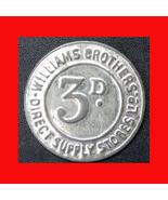 886g   williams brothers tin token 1 thumbtall